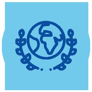 Ícone ilustrativo sobre Direitos Humanos Econômicos, Sociais, Culturais e Ambientais para a seção Objetivos e Atuação do site da Plataforma de Direitos Humanos Dhesca Brasil