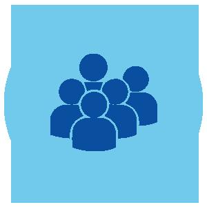 Ícone ilustrativo sobre Estado democrático de direitos e participação popular para a seção Objetivos e Atuação do site da Plataforma de Direitos Humanos Dhesca Brasil