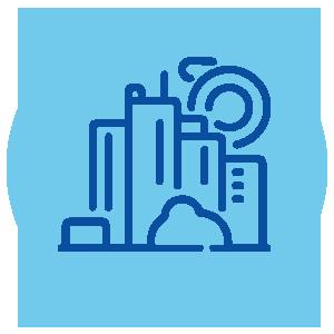 Ícone ilustrativo sobre Efetivação e garantia do Direito à Cidade para a seção Objetivos e Atuação do site da Plataforma de Direitos Humanos Dhesca Brasil